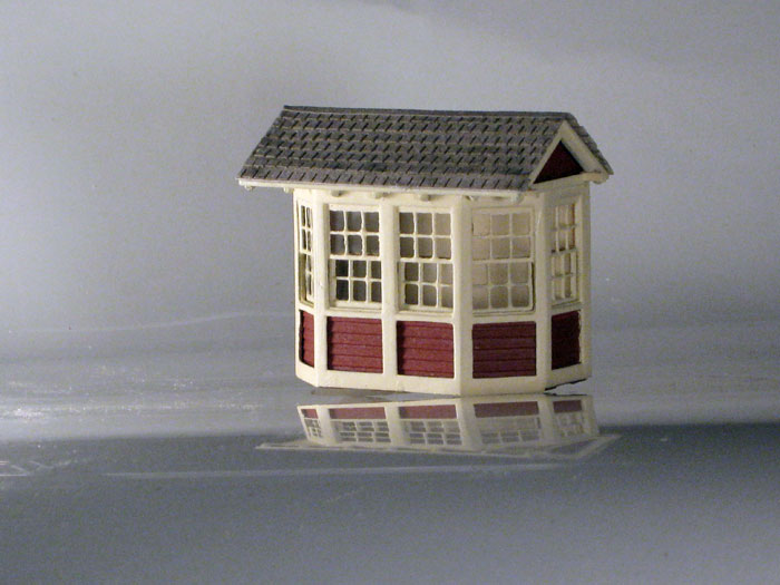 At sf style scale house complete ho scale kit for Complete home building kits